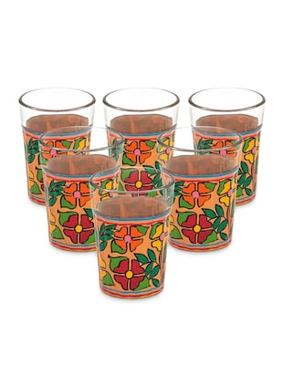 Multicolor Painted Tea Glasses (Set of 6)