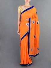 Georgette Gota Patti Hand Work Saree - Rajasthani Sarees