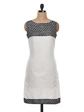 White & Black Printed Cotton Kurti - KYLA F