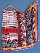 Multi Colour Printed Bhagalpuri Silk Saree - Varanga
