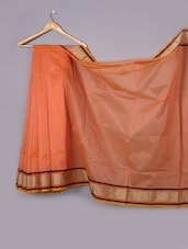 Pink Cotton Net Woven Border Saree - WEAVING ROOTS