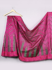 Magenta Cotton Saree - WEAVING ROOTS