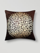 Brown Poly Cotton Set Of 5 Cushion Covers - By