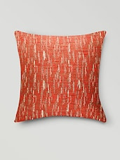Maroon Poly Cotton Printed Cushion Cover - By