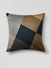 Black Poly Cotton Set Of 5 Cushion Covers - By