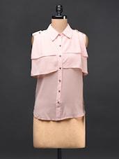 Baby Pink Georgette Shirt - TREND SHOP