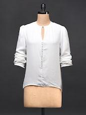 White Georgette Top - TREND SHOP
