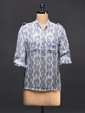 Blue And White Georgette Shirt - TREND SHOP