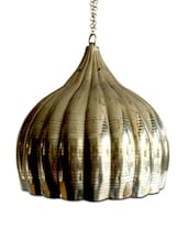 Fluted Brass Finish Ceiling Lamp - Classic Chic