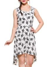 Black & White Floral Print Dress - ZOVI