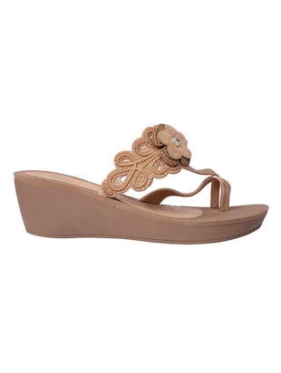 f64acf00339 Buy Brown And Bronze Leatherette Sandals for Women from Grendha for ₹1599  at 0% off
