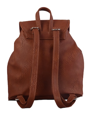brown leatherette backpack - 10235827 - Standard Image - 2