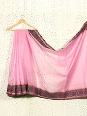 Pink Art Silk And Cotton Banarasi Saree - Prabha Creations