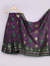 Floral Woven Cotton Silk Saree - WEAVING ROOTS