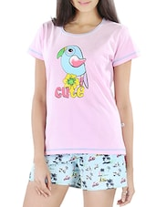Printed Cotton Top & Shorts - By