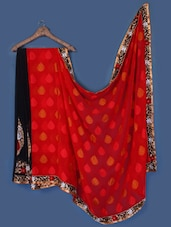 Black And Red Georgette Saree - Anoha