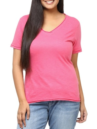 pink cotton plus top