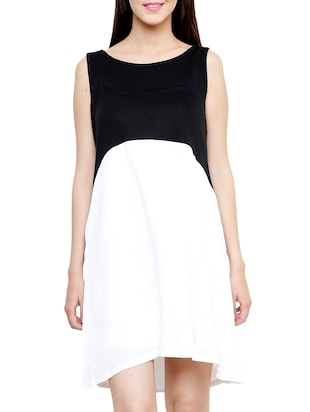 black & white a-line dress
