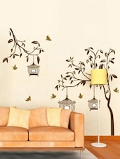 Tree With Birds, Cages Wall Sticker   Online Shopping For Wall Decals U0026  Stickers Part 59