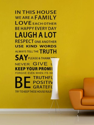 """ In This House Quote"" wall stickers"