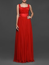 Solid Red Maxi Dress - Eavan