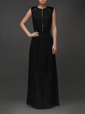 Solid Black Maxi Dress - Eavan