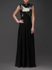Black Printed Maxi Dress - Eavan