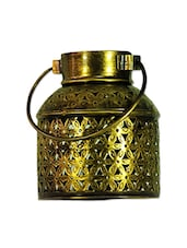 Crafticia Craft Traditional Rajasthani Handicraft Unique Metal Tealight Candle Holder Bucket - By