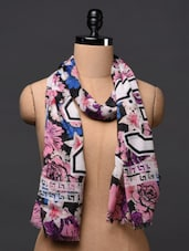 Floral Printed Polyester Scarf - Citypret