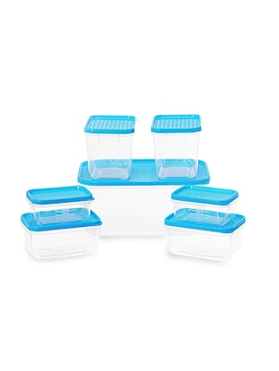 Polka Container Set of 7 Blue