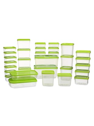 POLKA CONTAINER 31 PC SET GREEN
