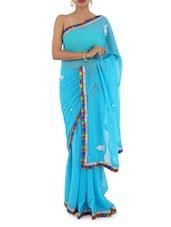 Multi Color & Gota Border Saree - Bandhni