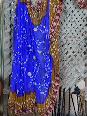 Bandhej Hand Work Saree - Lazza