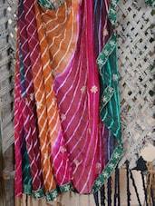 Lehariya Floral Hand Work Saree - Lazza