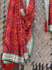 Bandhani Gota Embroidered Saree - Lazza