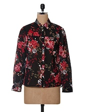 Floral Printed Polyester Shirt - Oxolloxo - 1027683