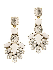 Stone Studded Metal Alloy Earrings - Voylla