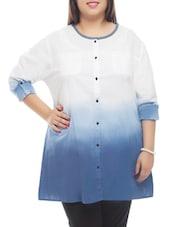 Ombre Button Down Cotton Shirt - PLUSS