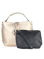 Solid Gold Embellished Handbag - LOZENGE