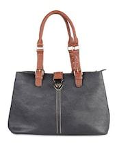 Solid Black Formal Handbag - LOZENGE