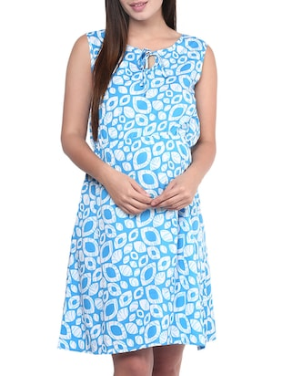blue crepe maternity wear