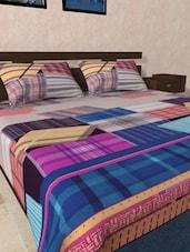 Checks-in-Square Printed Bedsheet Set - RAGO