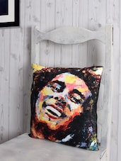 Bob Marley Arty  Poly-velvet Cushion Cover - RAGO