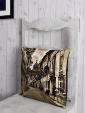 Landscape Print Poly-velvet Cushion Cover - RAGO