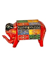 Handpainted Elephant Decorative With Storage Box - Home And Bazaar