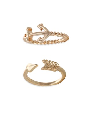 gold metal hand ring