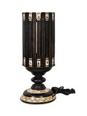 Ethnic Wooden Circular Table Lamp - VarEesha Décor