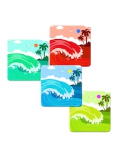 """Sun And Beach"" Printed Mdf Coaster Set - Shopkeeda"