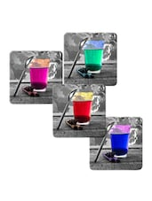 """Colorful Water Glass"" Printed Mdf Coaster Set - Shopkeeda"