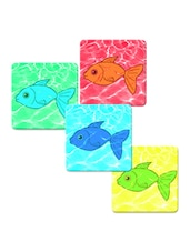 """Sweet Fish"" Printed Mdf Coaster Set - Shopkeeda"